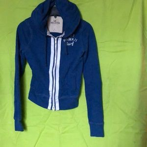 Hollister small Full-zip Hoodie blue